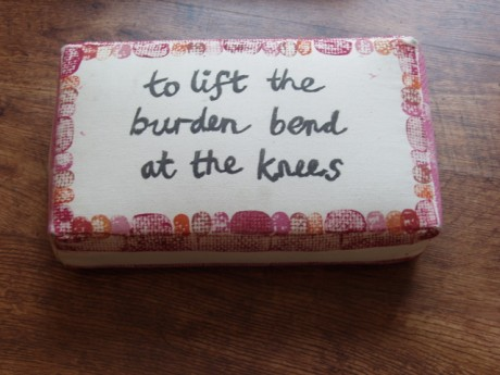 to lift the burden...